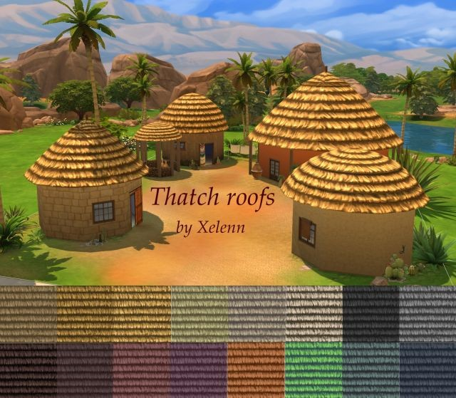Thatch Roofs in 16 Colors by Xelenn