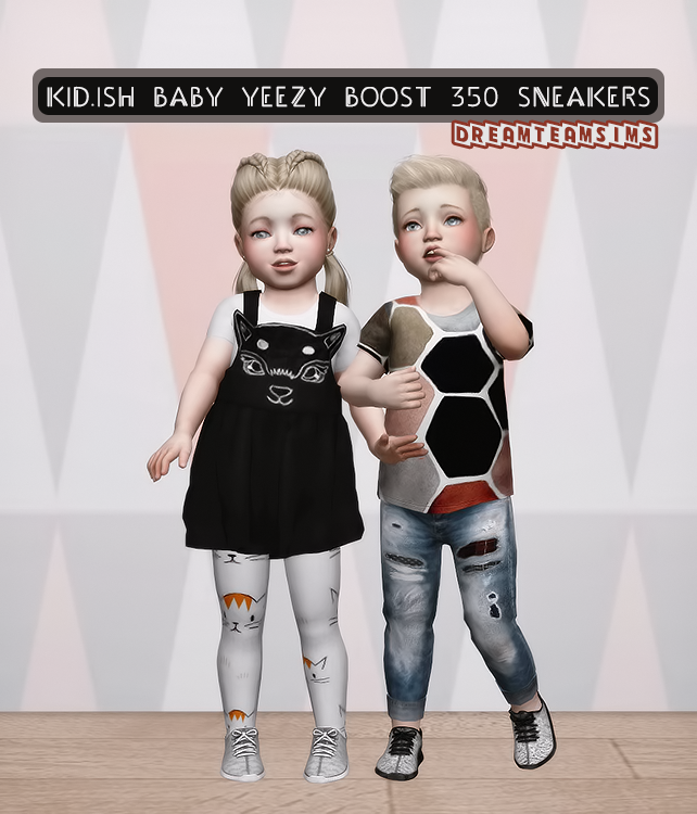 TS3 Yeezy Boost 350 Sneakers Conversion for Toddlers by DreamTeamSims