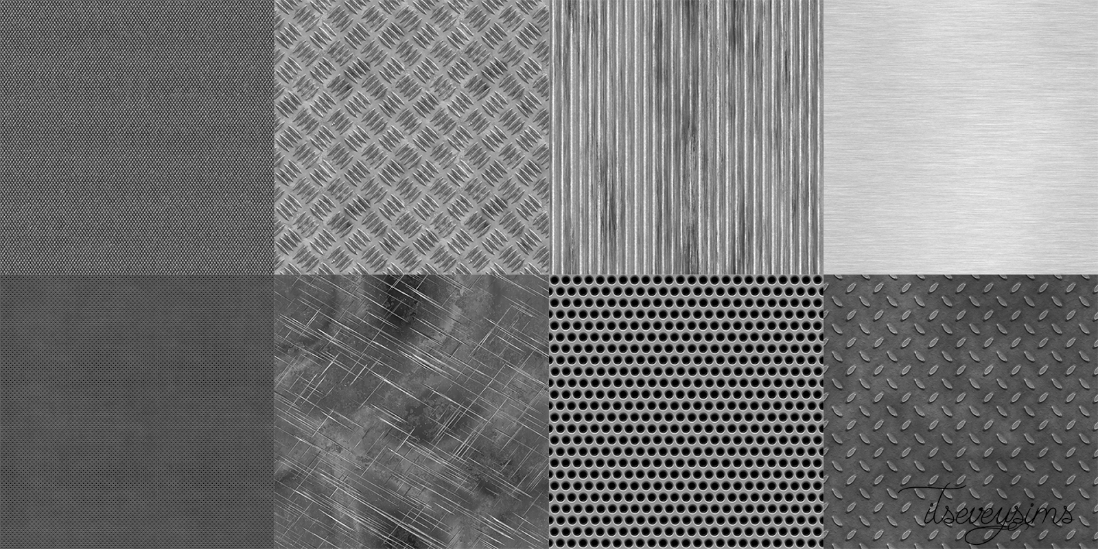 Metal Wallpaper, Floors and Foundations by ItsEveySims