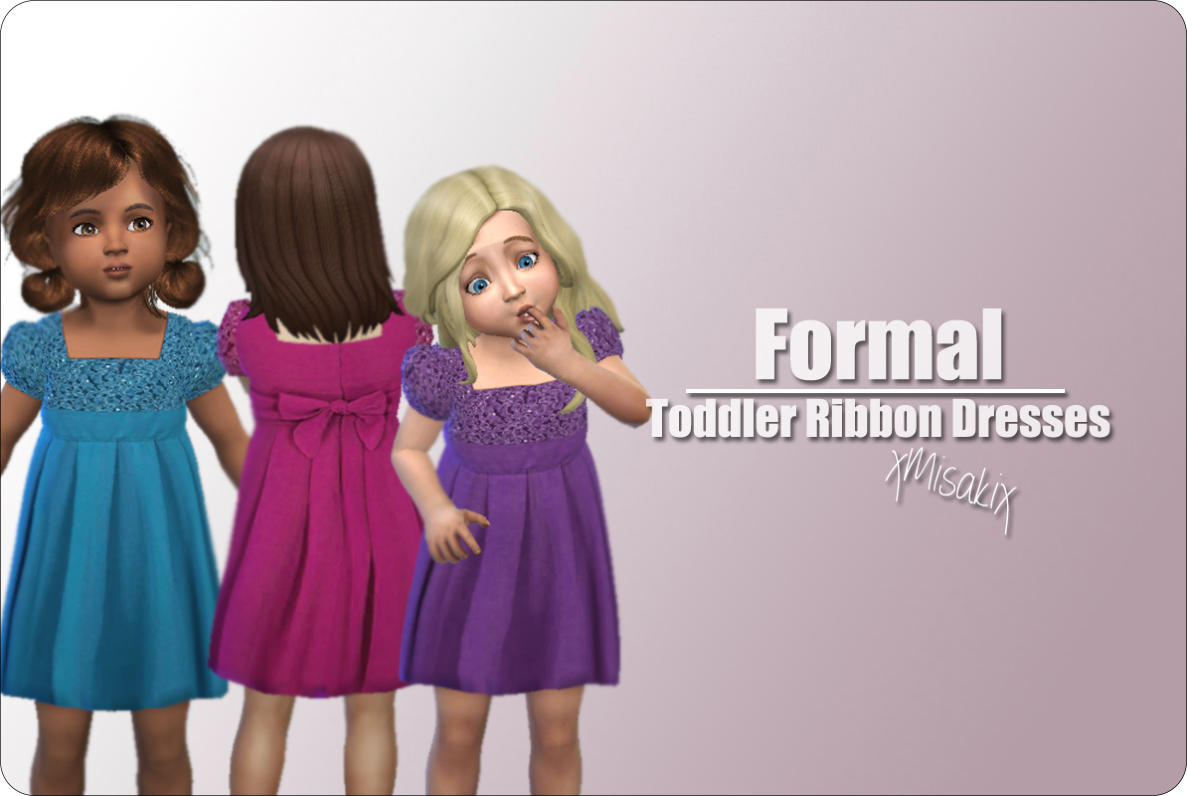 Formal Ribbon Dresses for Toddlers by xMisakix