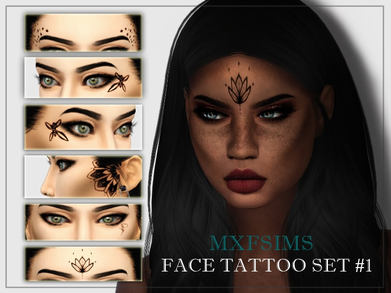 FACE TATTOO SET #1 by MXFSims