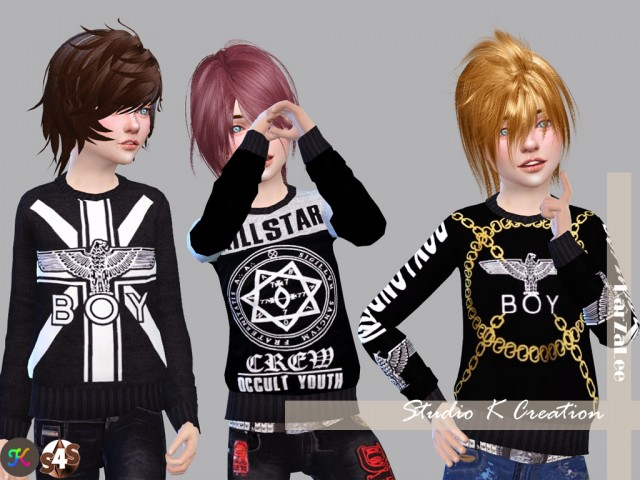 Boy London Sweat for child version by Karzalee