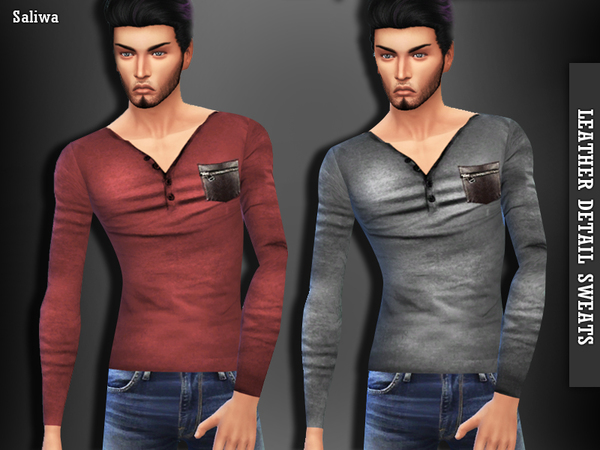 Leather Detail Tops by Saliwa