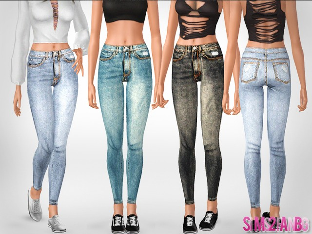 484 - Skinny jeans by sims2fanbg