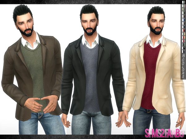 297 - Shirt With Coat by sims2fanbg