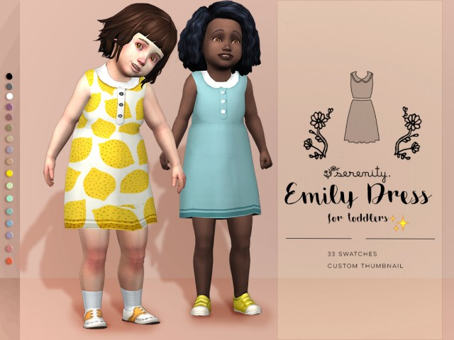 EMILY DRESS FOR TODDLERS by serenity