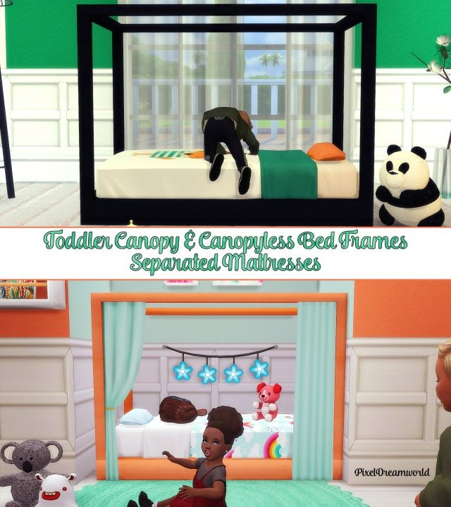 Toddler Canopy Bed Set by Pixeldreamworld