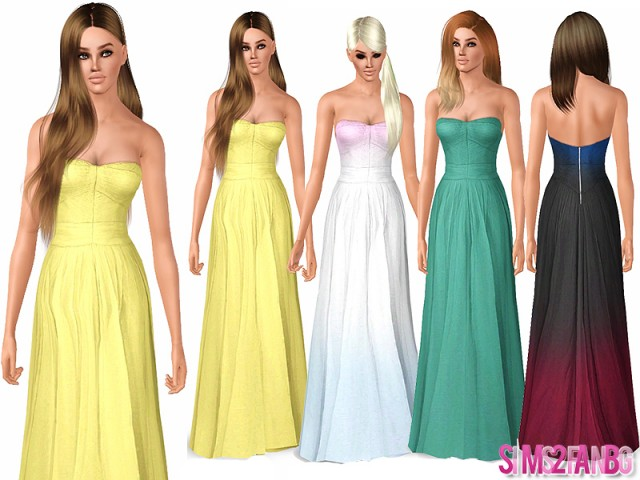 485 - Long Prom Dress by sims2fanbg