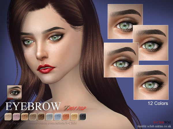 S-Club WM ts4 Eyebrows F 201702