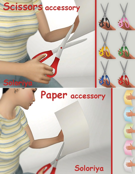 Scissors and Paper Accessories for adult and kids by soloriya