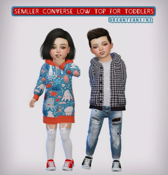 Semller Converse Low Top for Toddlers by DreamTeamSims