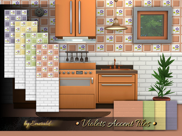 Violets Accent Tiles by emerald