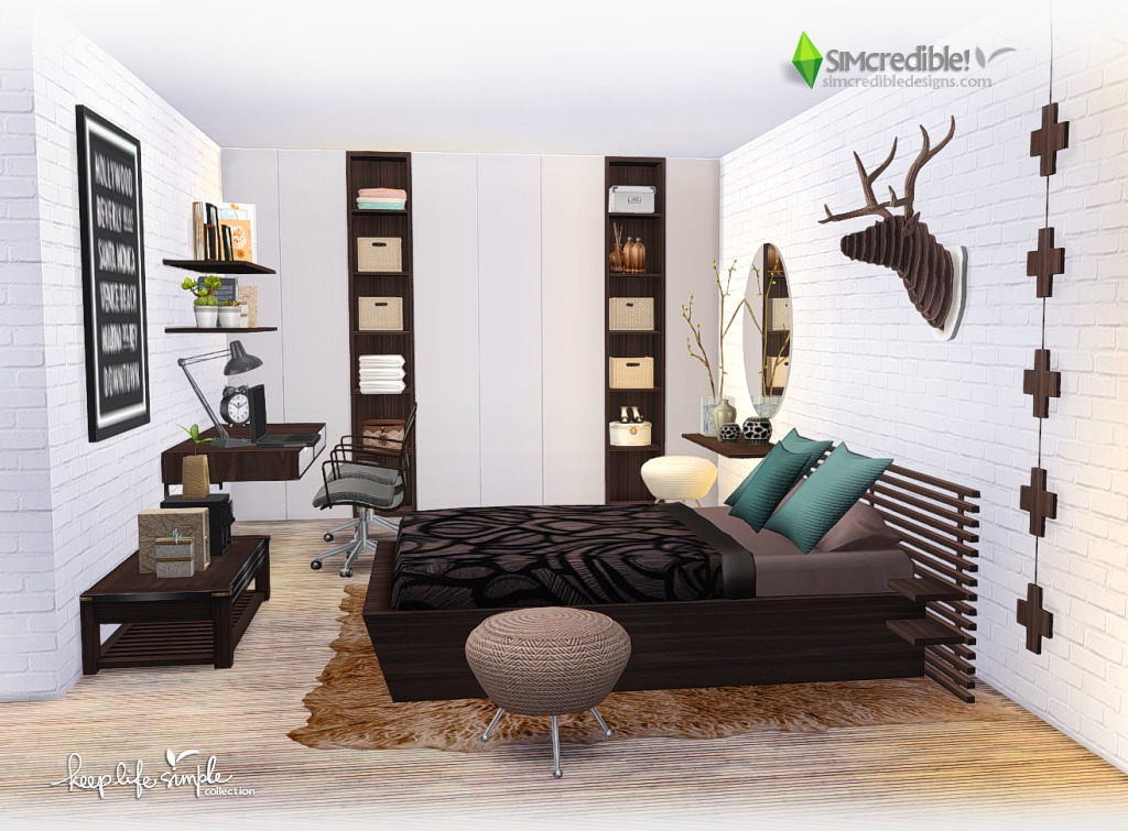 Keep Life Simple Bedroom Set by Simcredible