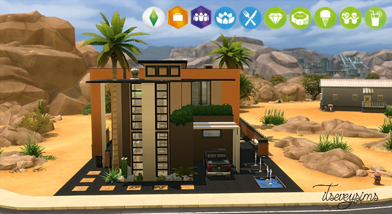 THE SIMS 4 HOUSE - SANDY by ItsEveySims (No CC)