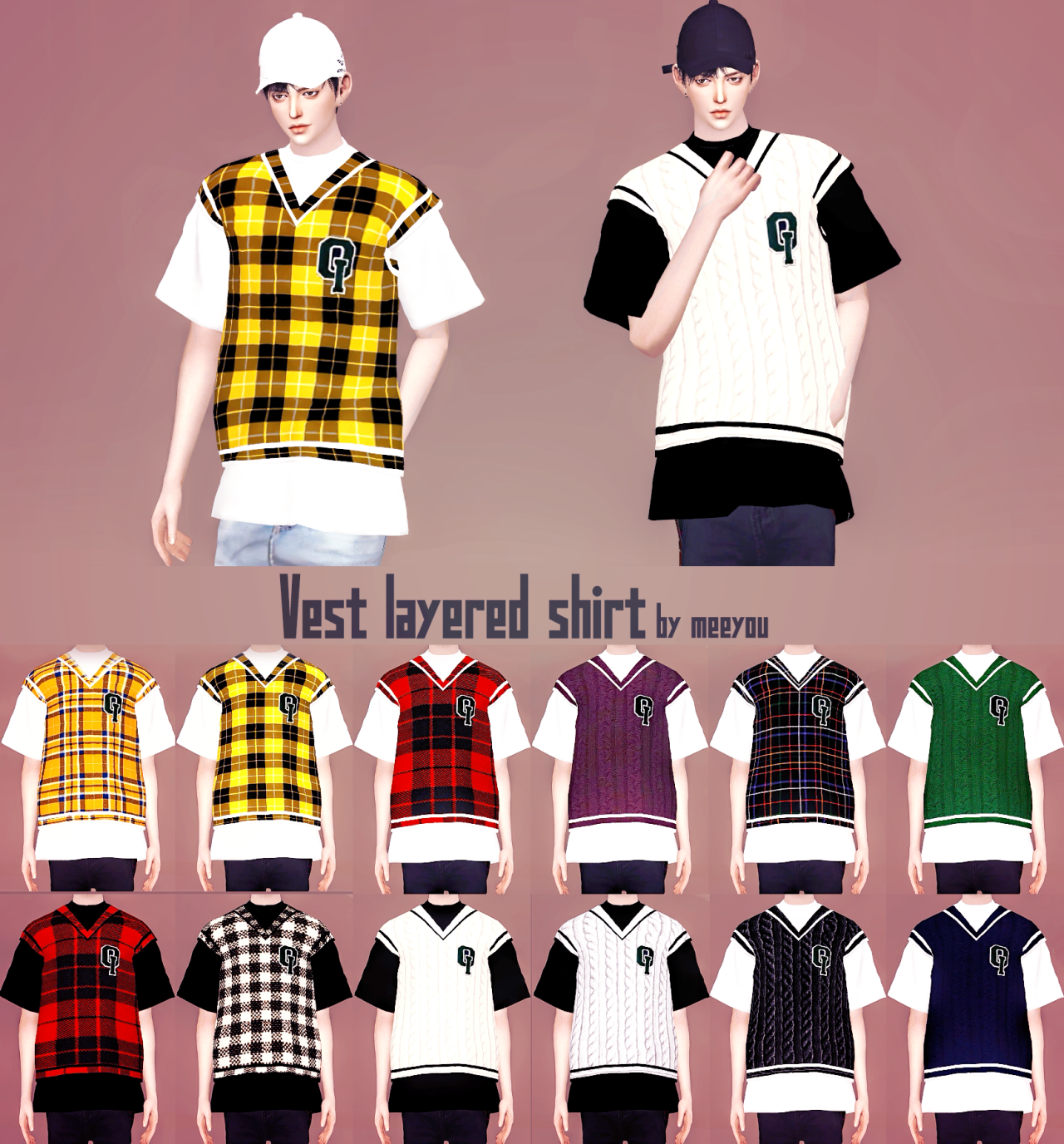 Vest Layered Shirt by MeeyouX