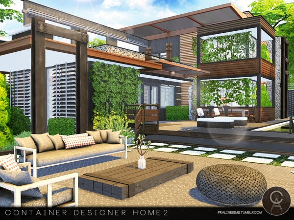 Container Designer Home 2 by Pralinesims