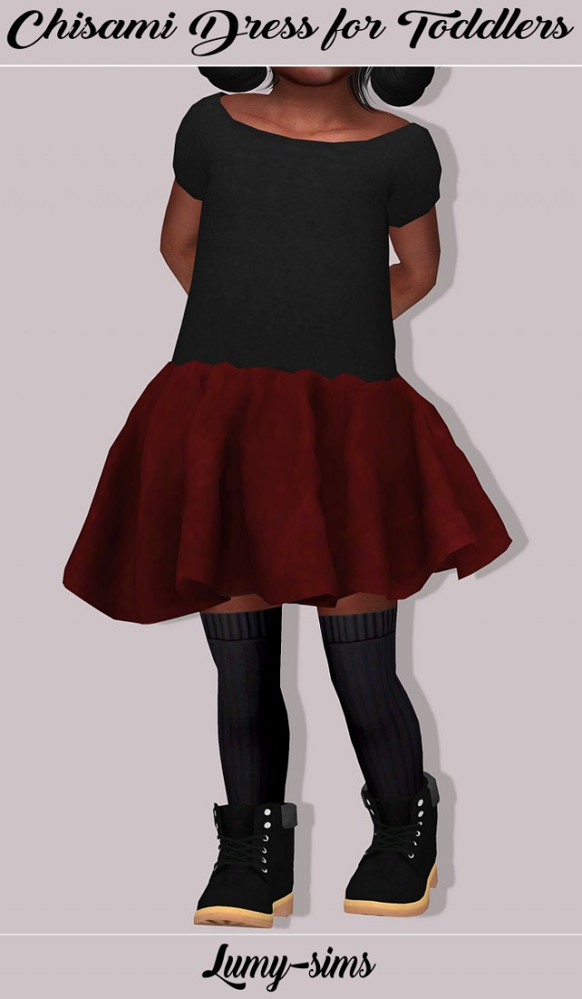 Chisami Dress for toddlers by Lumy-sims