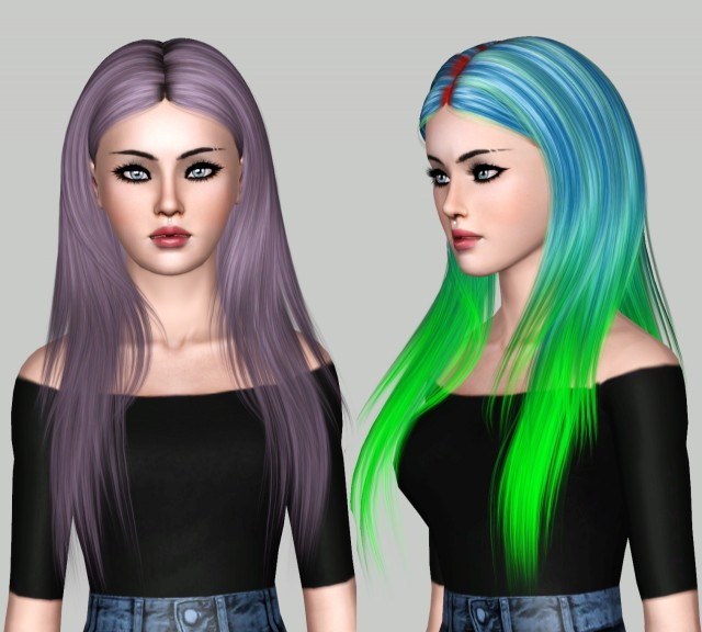 NightCrawler Dayana Hair Chop by lies-and-crooked-sims