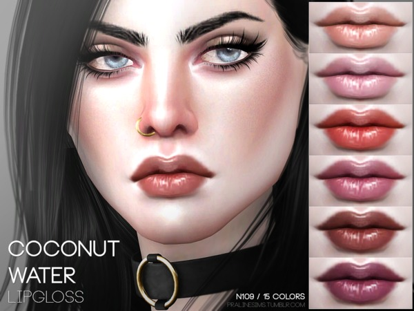 Coconut Water Lipgloss N109 by Pralinesims