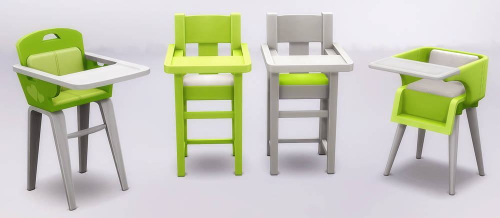 Highchair Recolors by NoodlesCC