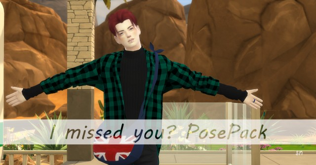 I Missed you? Posepack by Simsnema
