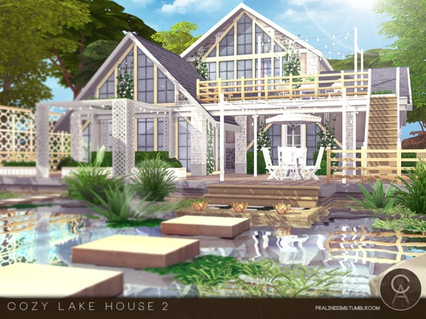 Cozy Lake House 2 by Pralinesims