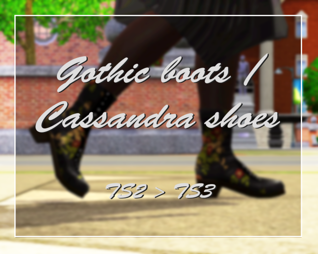 Cassandras shoes/Gothic boots~ by GreenPlumbBobLover