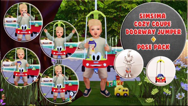 SimSima Cozy Coupe Doorway Jumper + Pose Pack by VictorrMiguell