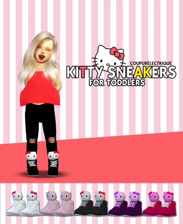 Kitty Sneakers Conversion by Coupurelectrique