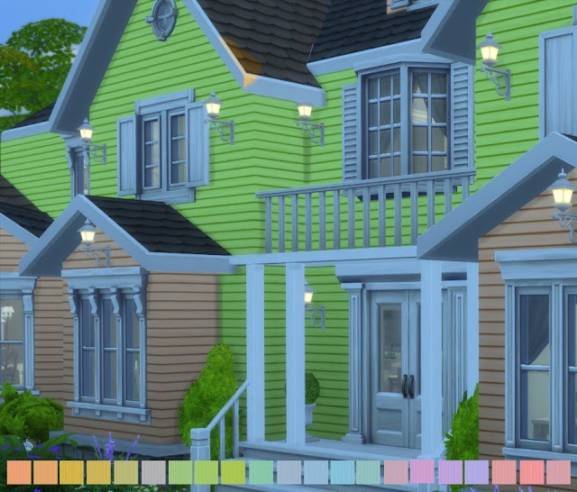 Simple Siding Additional Colors In Pastel by PixelsInDesign