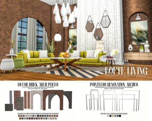 Lofte Living - Brick Arch Decor Set by Peacemaker ic