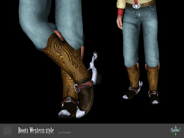 Boots Western style by Shushilda