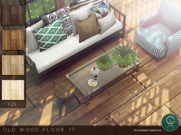 Old Wood Floor 17 by Pralinesims