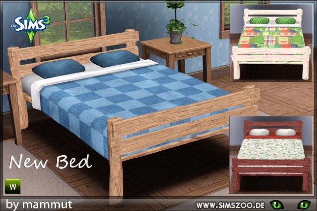 Wooden bed by mammut