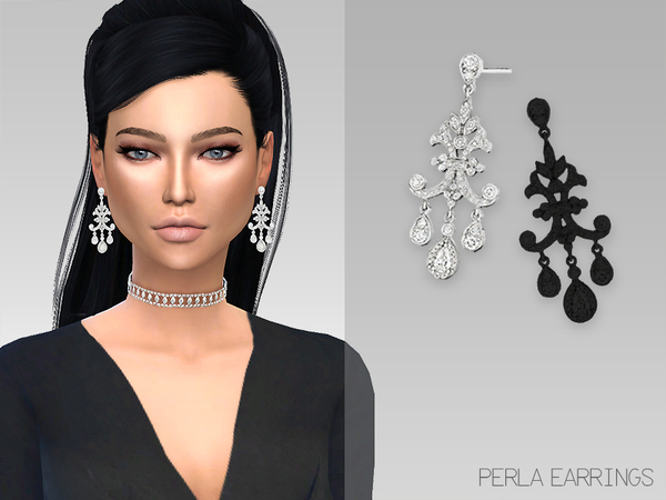 GrafitySims - Perla Earrings