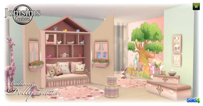 Dolly Toddler Bedroom Set by JomSims