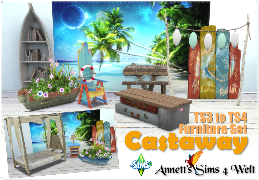 TS3 Castaway Furniture Conversions by Annett85