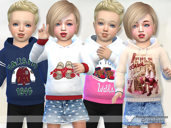 Toddler Hoodie Collection 03 by Pinkzombiecupcakes