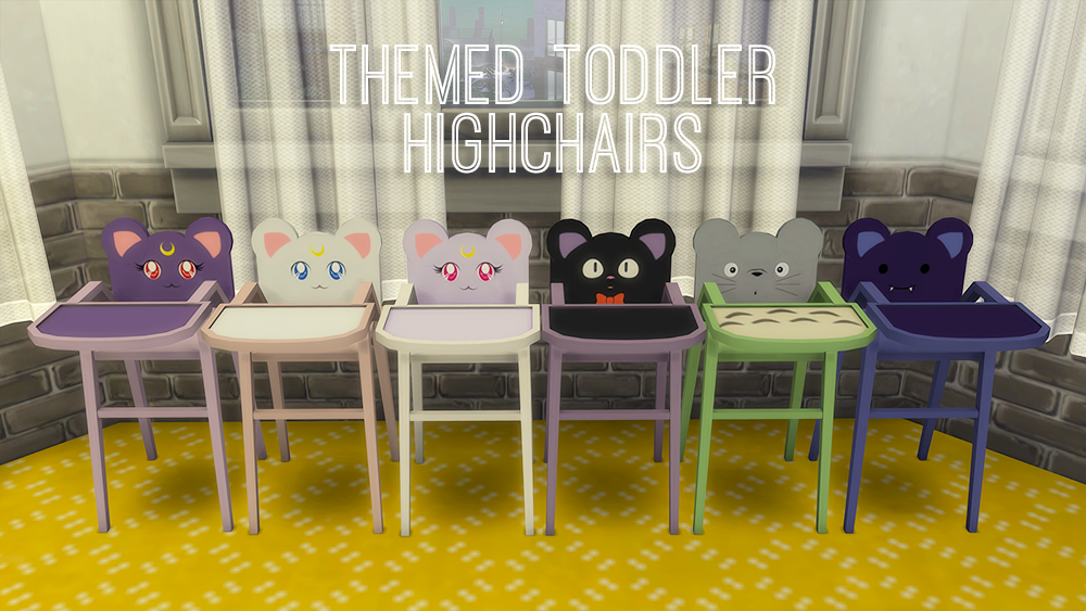 Themed Toddler Highchairs by Ciruelabob
