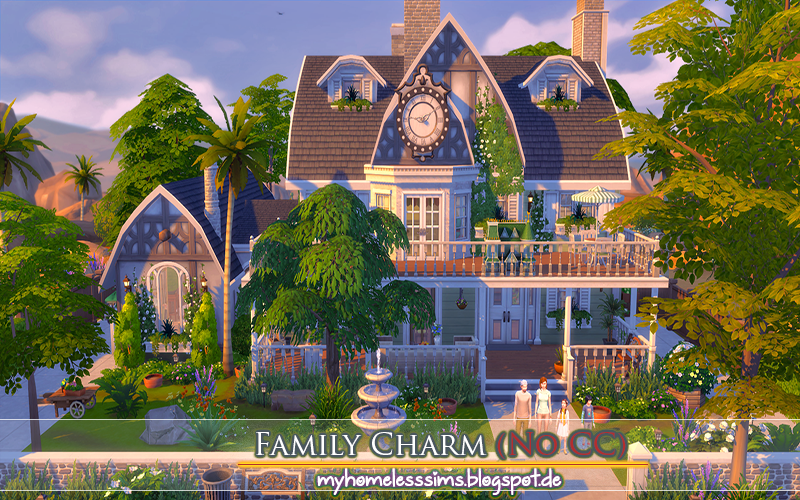 Family Charm House - No CC by MyHomelessSims