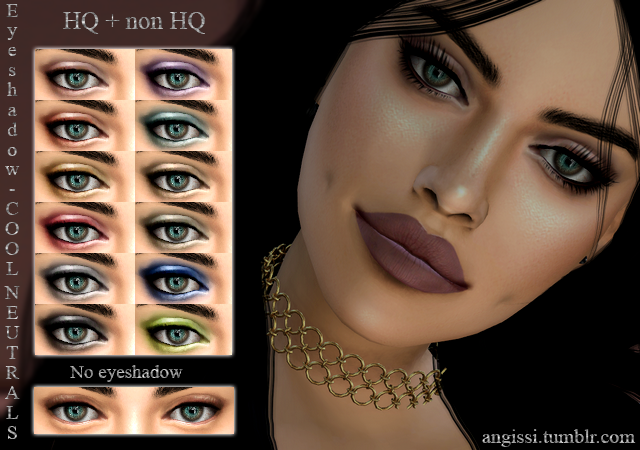 Eye Shadow - COOL NEUTRALS by ANGISSI