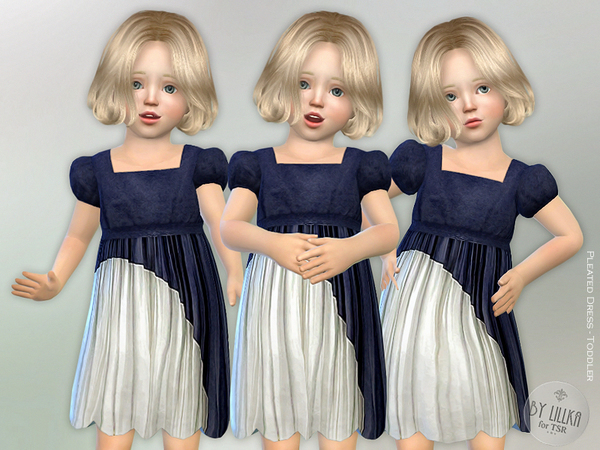 Pleated Dress - Toddler by lillka