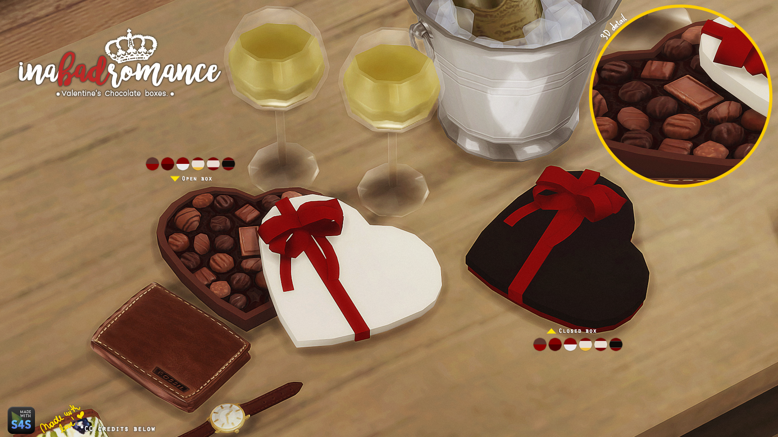 Valentine's Chocolate Boxes by Inabadromance