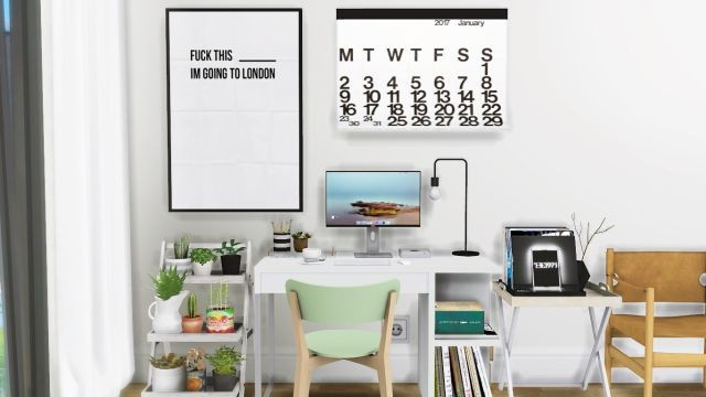 Office Furniture, Clutter and Music Decor by MXIMS