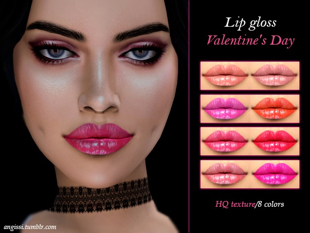 LIP GLOSS Valentines Day by ANGISSI