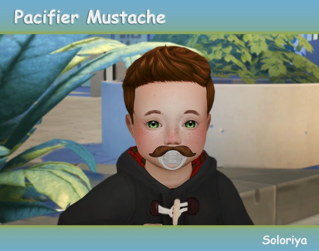 Pacifier Mustache for toddlers by Soloriya