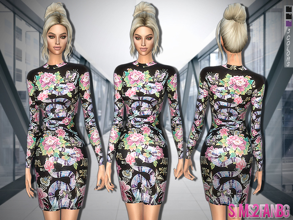 300 - Snake Dress by sims2fanbg