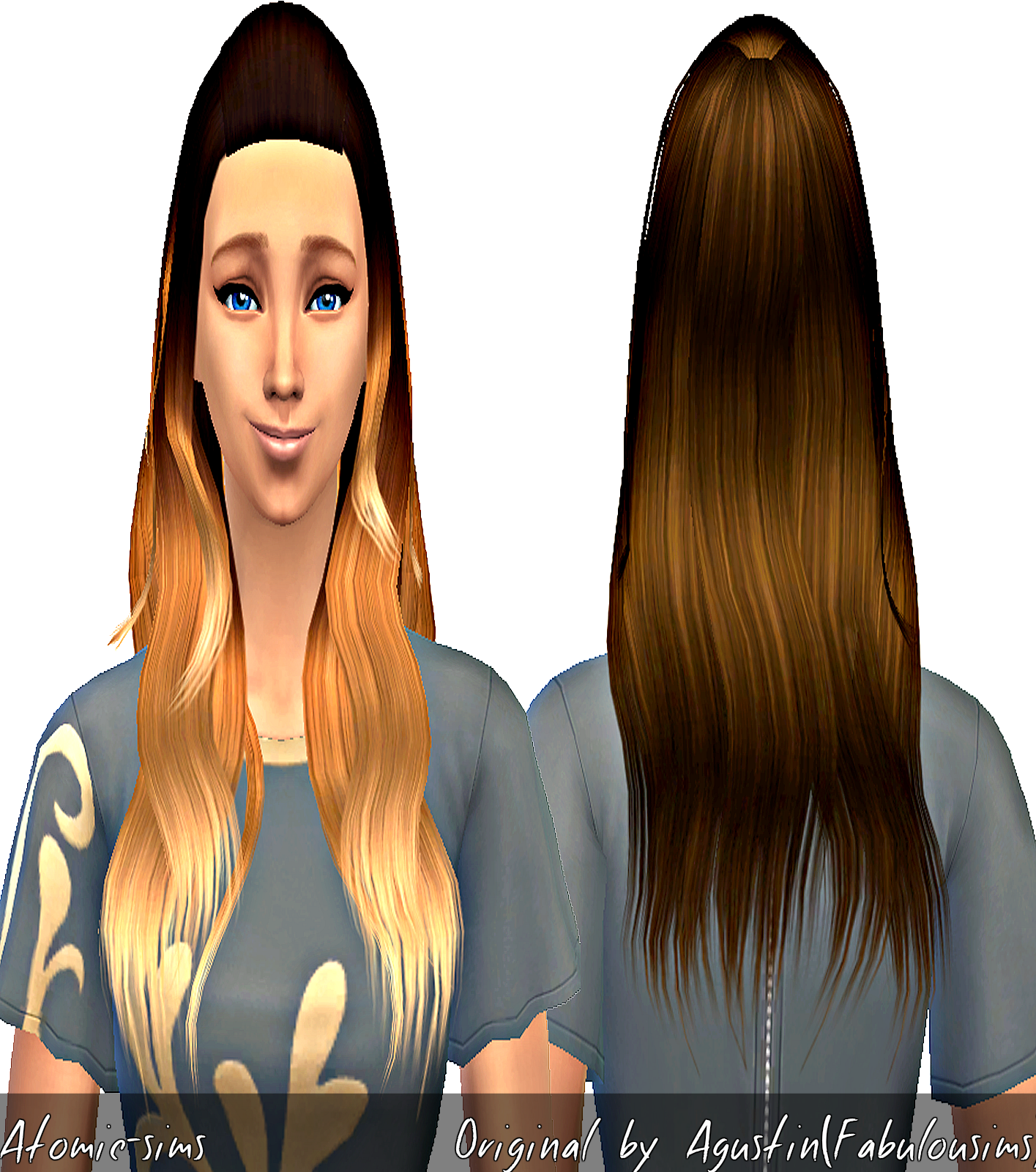Agustin Miche wavy hair conversion by Atomic-sims