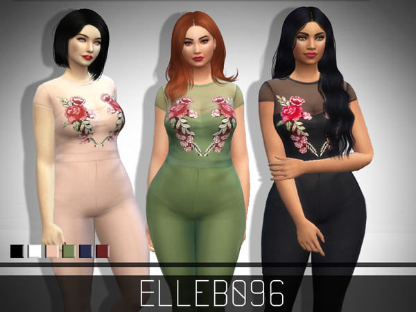 Rose Embroidered Jumpsuit (base game) by Elleb096