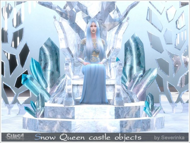 SnowQueen castle objects by Severinka